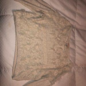 Billabong cropped knitted shirt